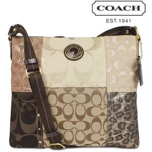 NWT! Coach Patchwork File Bag